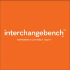 Interchangebench logo posline rev orange white square