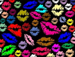7055134 colorful lips prints